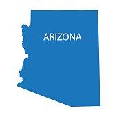 blue map of Arizona