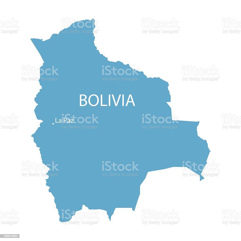 blue map de Bolivia - ilustración de arte vectorial