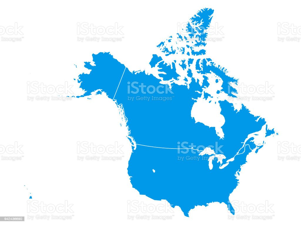 Blue map of canada and usa stock vector art more images of alaska blue map of canada and usa royalty free blue map of canada and usa stock gumiabroncs Gallery
