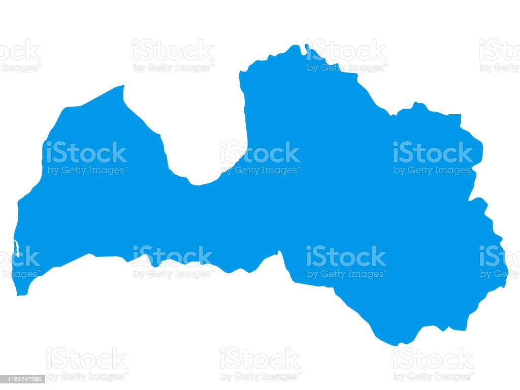 Picture of: Blue Map Of European Country Of Latvia Stock Illustration Download Image Now Istock
