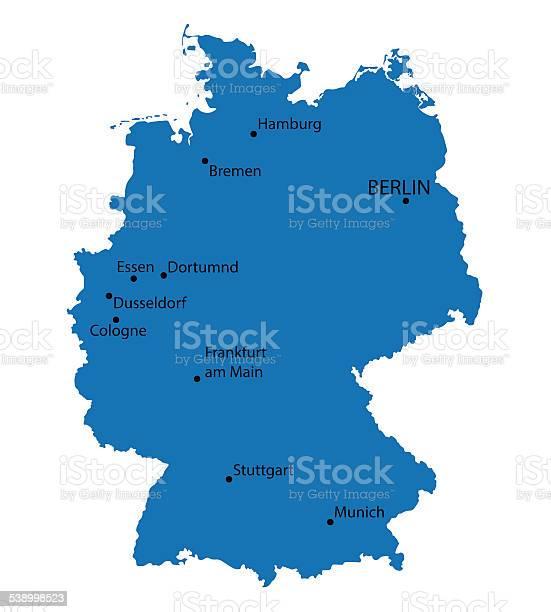 Mapa niemiec essen