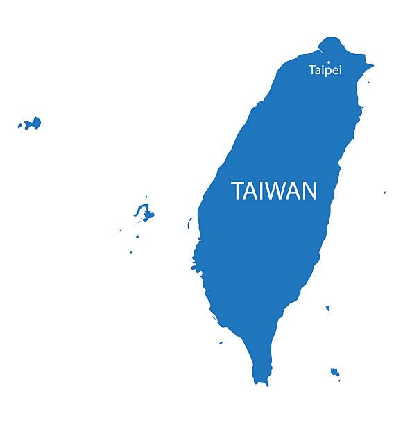 ブルーの地図台湾 - 台湾点のイラスト素材/クリップアート素材/マンガ素材/アイコン素材