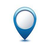 blue map pointer - Illustration