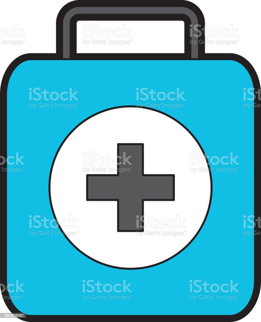 Blå Medicinsk Väska Tecknad vektorgrafik och fler bilder på Akademikeryrke