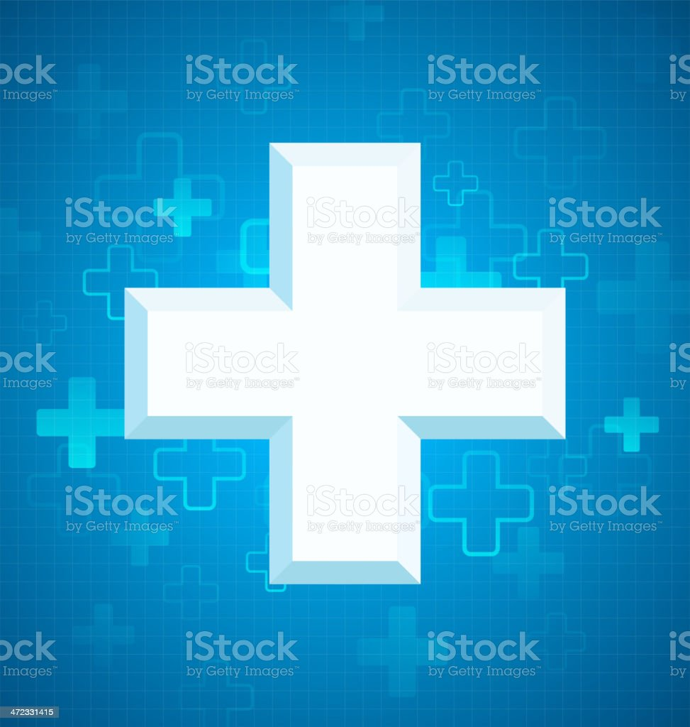 Blue medical design royalty-free stock vector art