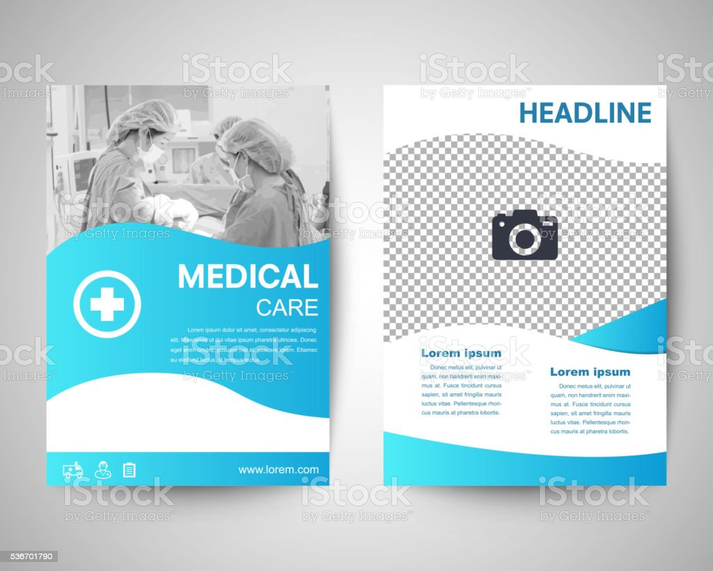 Blue Medical Flyer A4 Template Stock Vector Art More Images Of