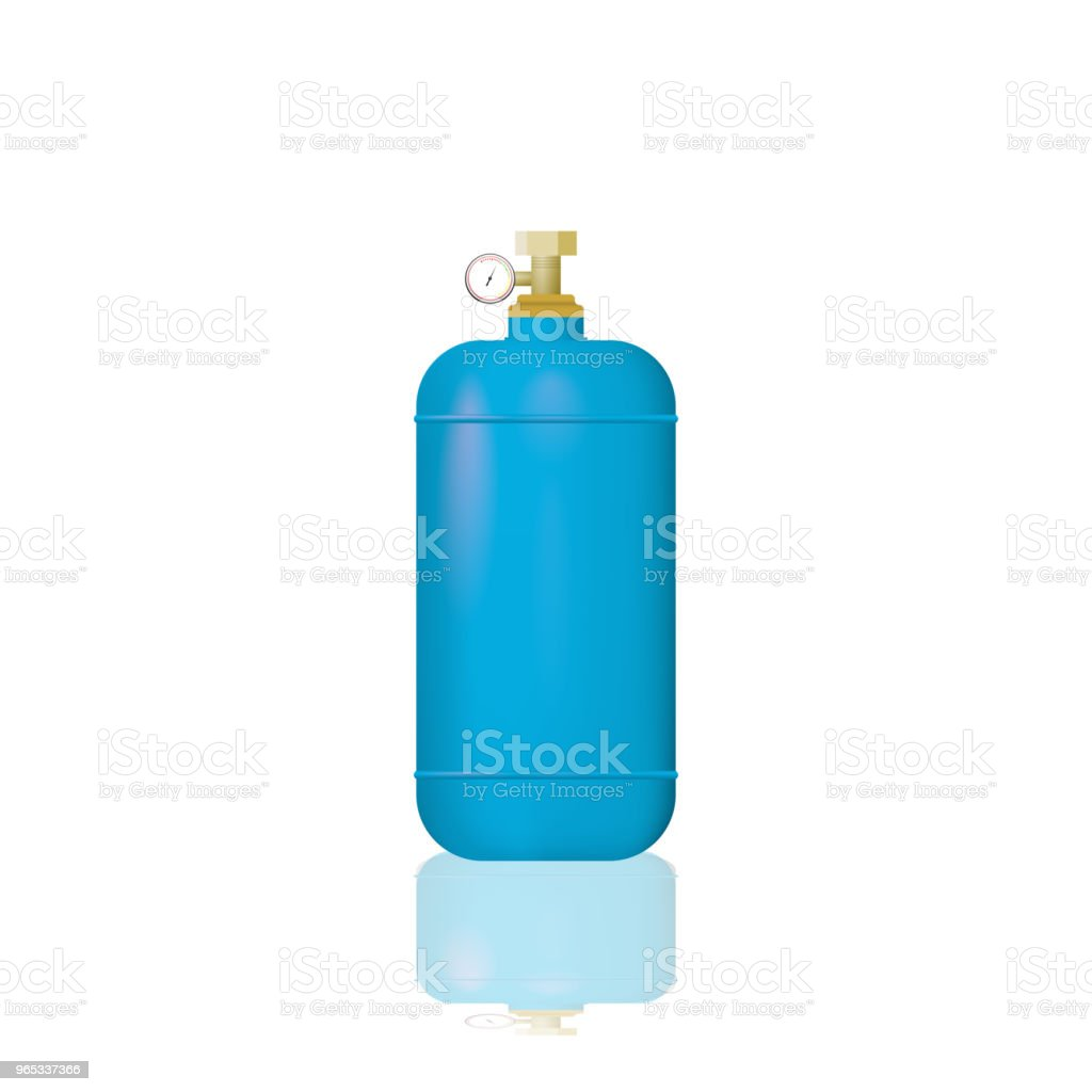 Blue medical oxygen cylinders. royalty-free blue medical oxygen cylinders stock vector art & more images of balloon