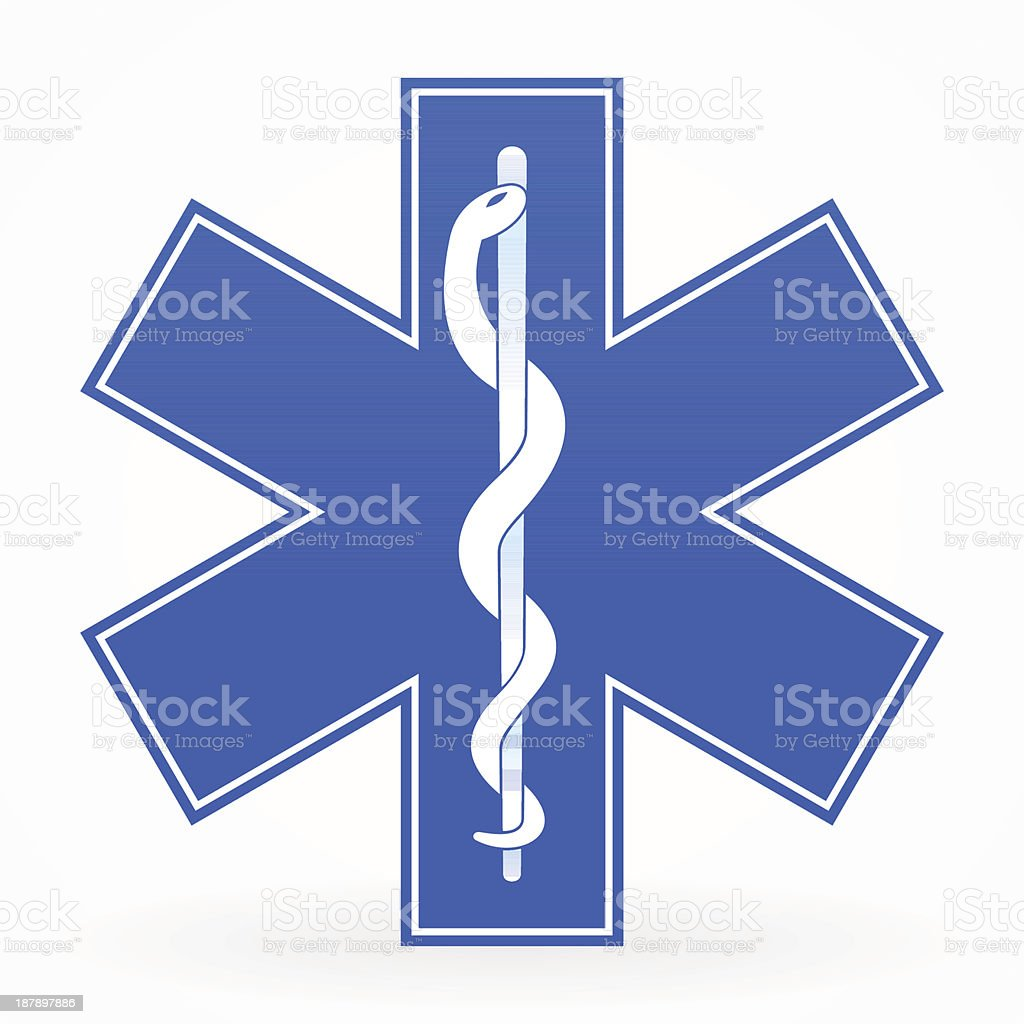 Blue Medical Sign vector art illustration