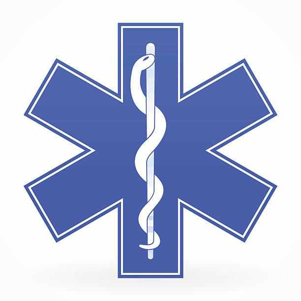 ブルー医療サイン - 救急救命士点のイラスト素材/クリップアート素材/マンガ素材/アイコン素材