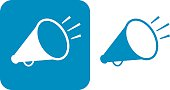Blue Megaphone Icons