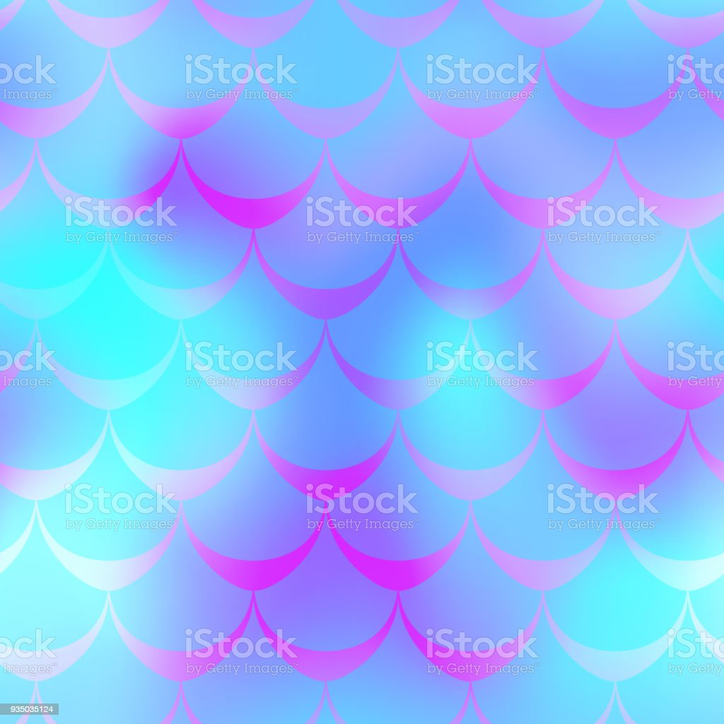 Blue mermaid vector background. Multicolored iridescent background. vector art illustration