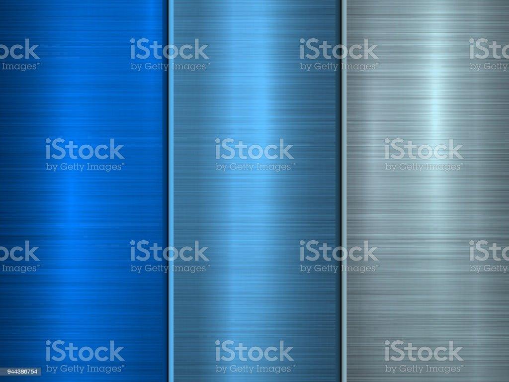 Blue Metal Technology Background vector art illustration