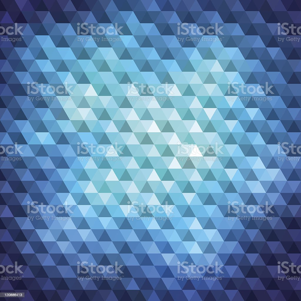 Blue Mosaic Background royalty-free stock vector art