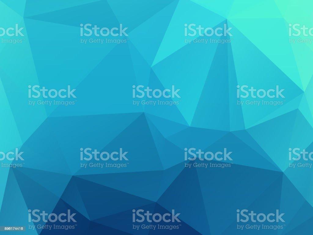 blue mosaic glass wallpaper vector art illustration