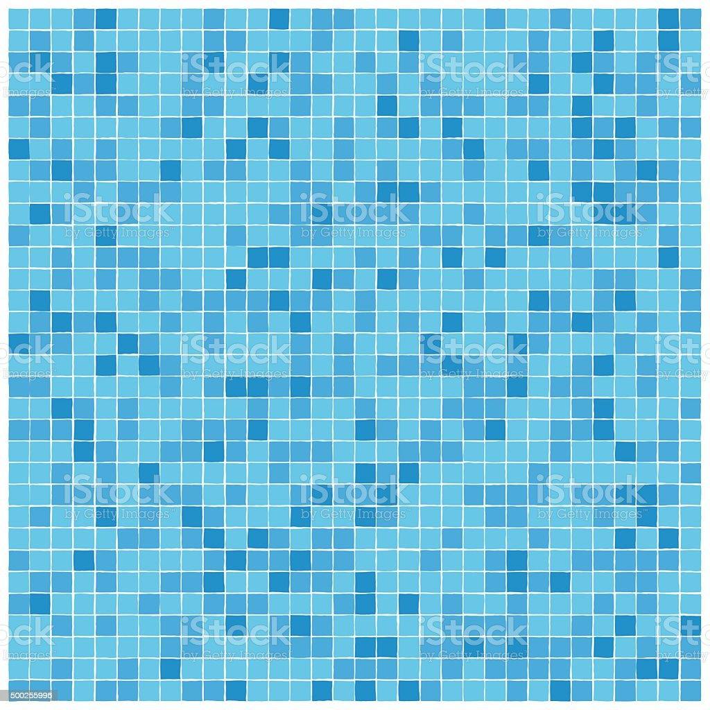 blue mosaic tiles pattern vector art
