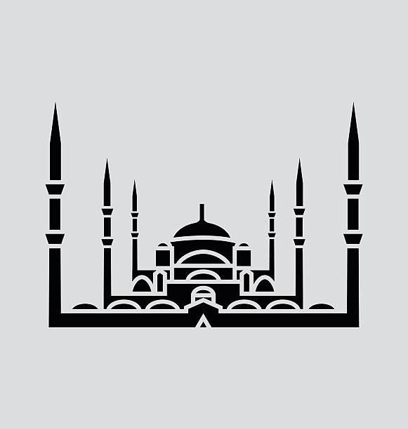 Blue Mosque, Istanbul Solid Vector Illustration vector art illustration