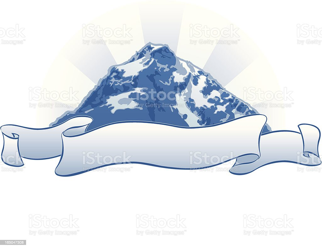 Blue Mountain Scroll royalty-free stock vector art