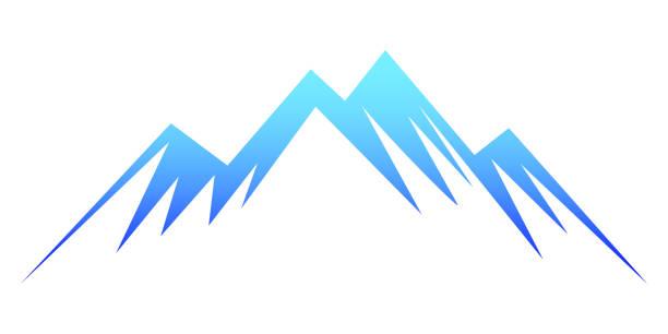 illustrazioni stock, clip art, cartoni animati e icone di tendenza di blue mountain – stock vector - monte bianco