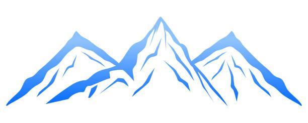 illustrazioni stock, clip art, cartoni animati e icone di tendenza di blue mountain – vector - monte bianco