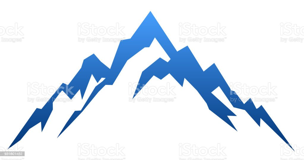 blue mountain vector stock vector art more images of asia rh istockphoto com mountain vector png mountain vector energy