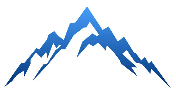 Blue mountain – vector Blue mountain – vector mountain top stock illustrations