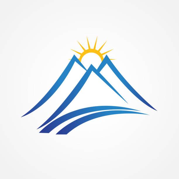 gebirge blue mountains - landschaftstattoo stock-grafiken, -clipart, -cartoons und -symbole