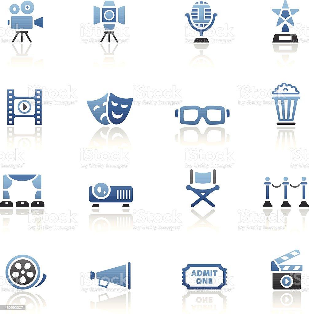 Blue-Icon-Set – Vektorgrafik