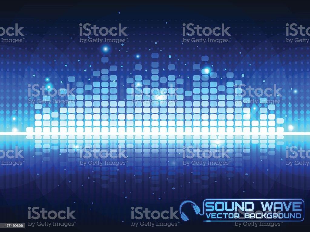 Blue Music Equalizer. vector art illustration