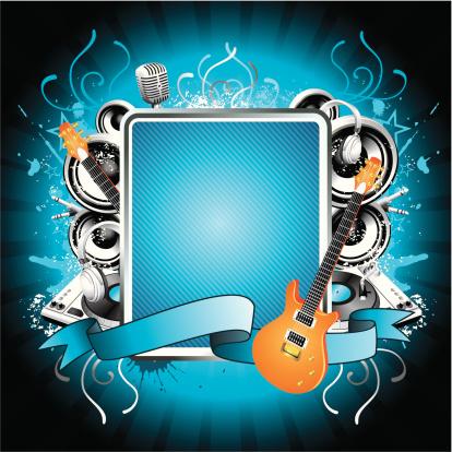 Blue music illustration