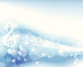 Abstract Musical Note Background. EPS 10 file.