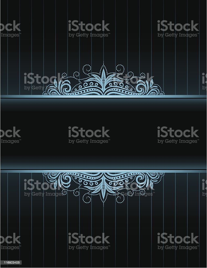 Blue Neon Frame royalty-free stock vector art