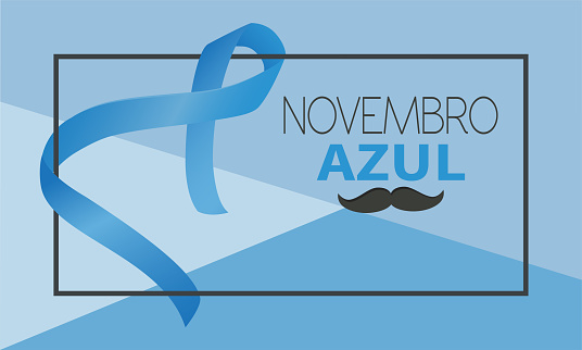 Vetores de Novembro Azul Na Língua Portuguesa e mais imagens de Apoio