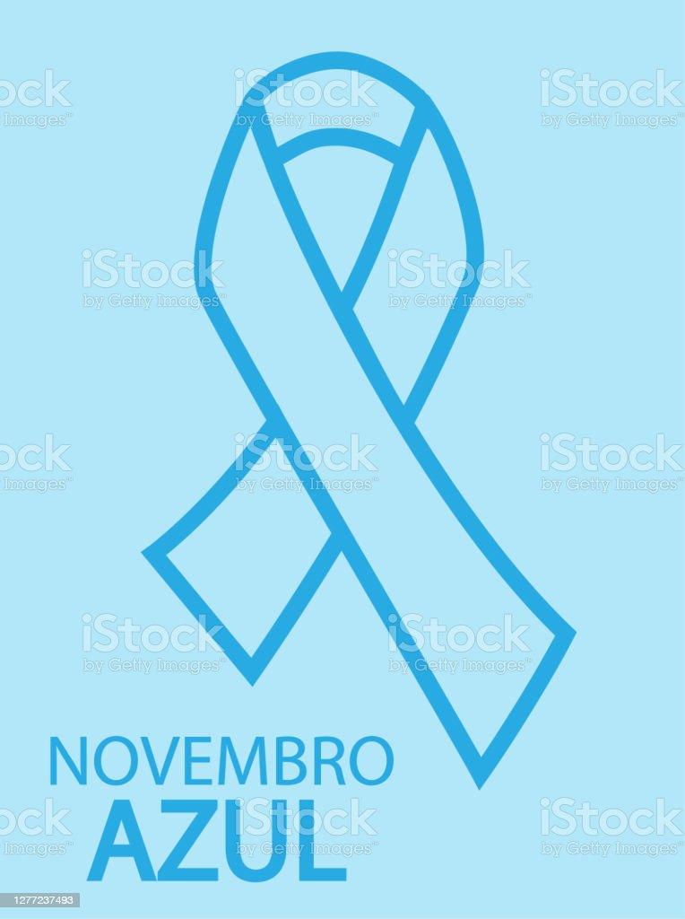 Novembro Azul em Língua Portuguesa - Vetor de Altruísmo royalty-free