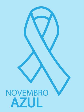 Vetores de Novembro Azul Em Língua Portuguesa e mais imagens de Altruísmo