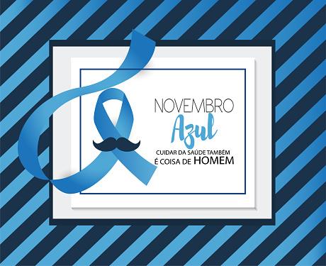 Vetores de Novembro Azulcuidar Da Saúde Também É Coisa De Homem Em Língua Portuguesa e mais imagens de Apoio