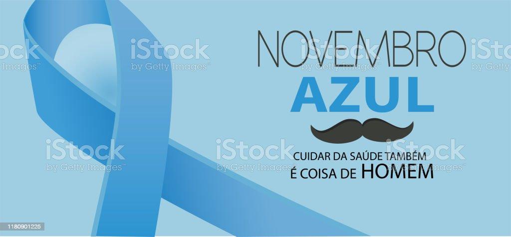 Novembro azul - Vetor de Apoio royalty-free