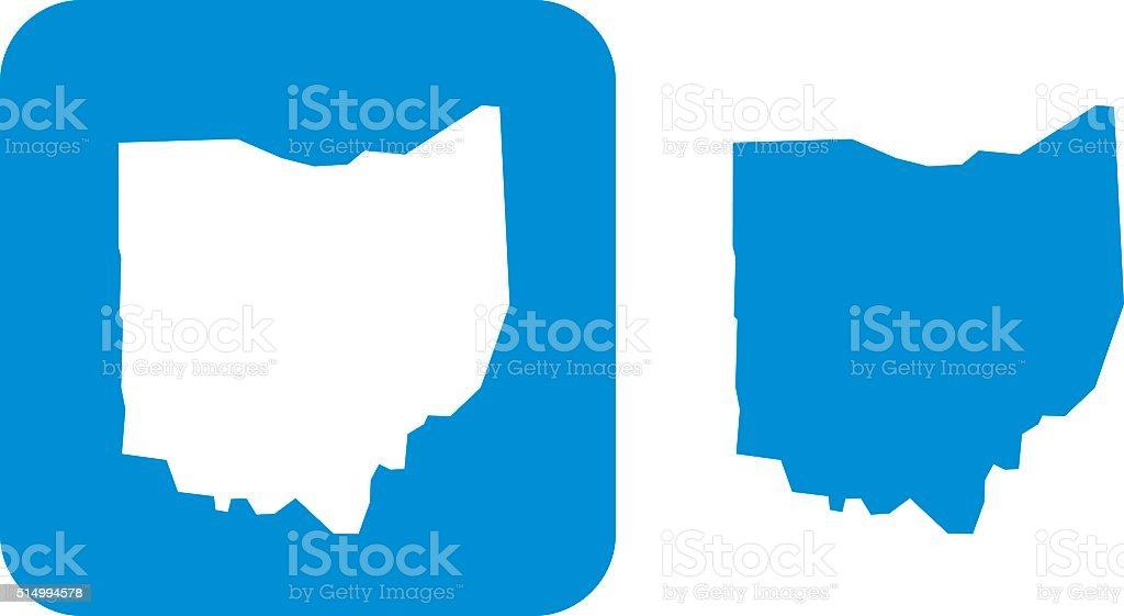 Blue Ohio Icon vector art illustration