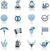 Blue Oktoberfest Icon Set
