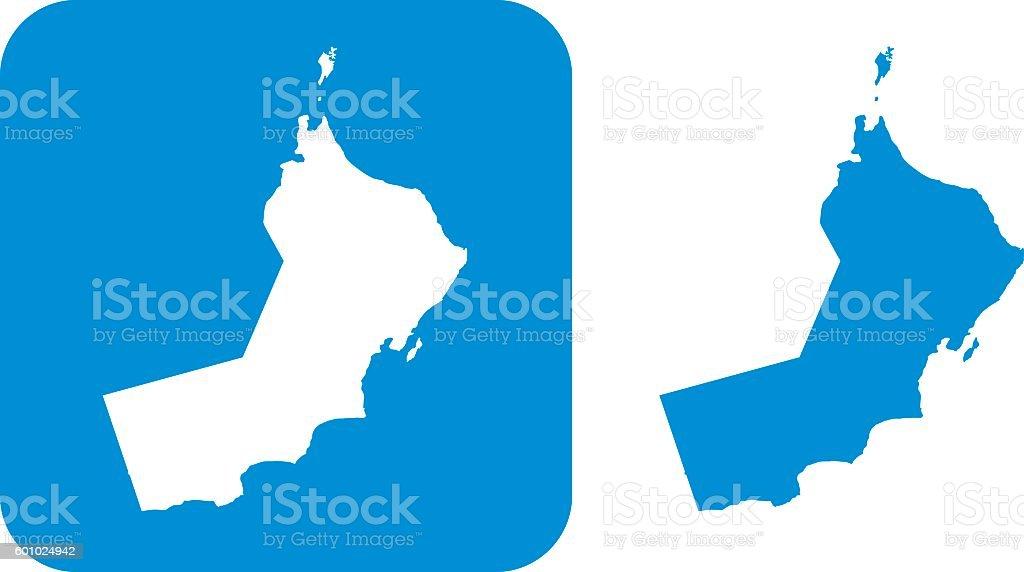 Blue Oman icon vector art illustration