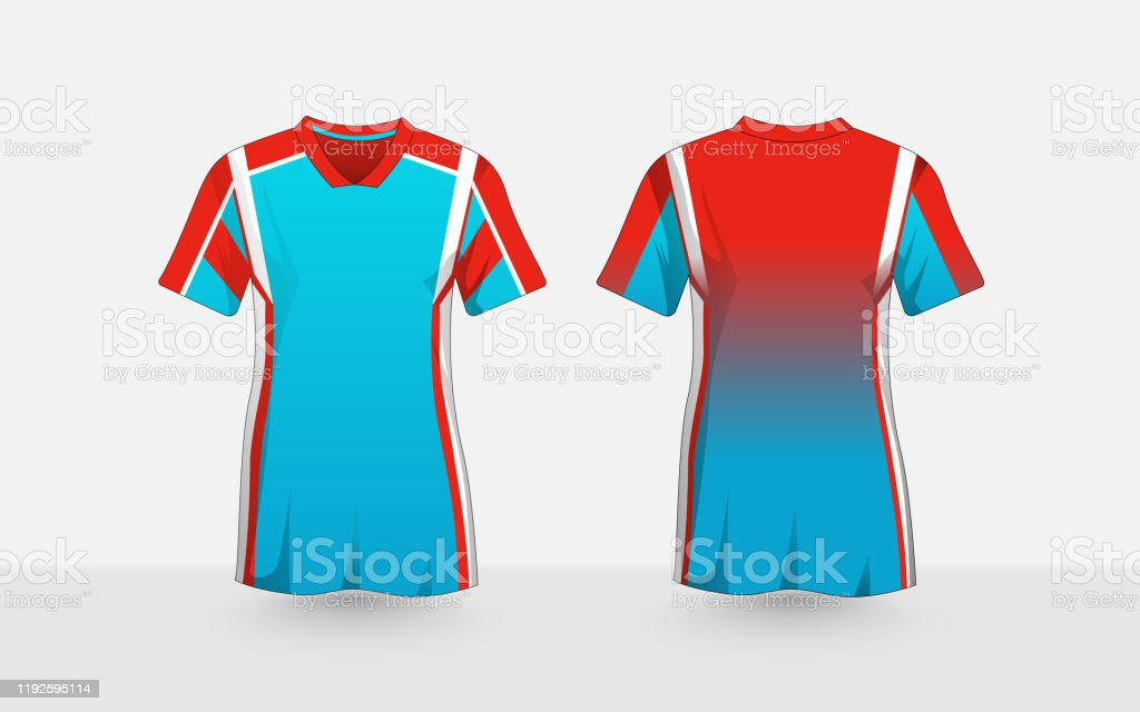 Blue Orange And White Layout Esport Tshirt Design Template Stock Illustration Download Image Now Istock