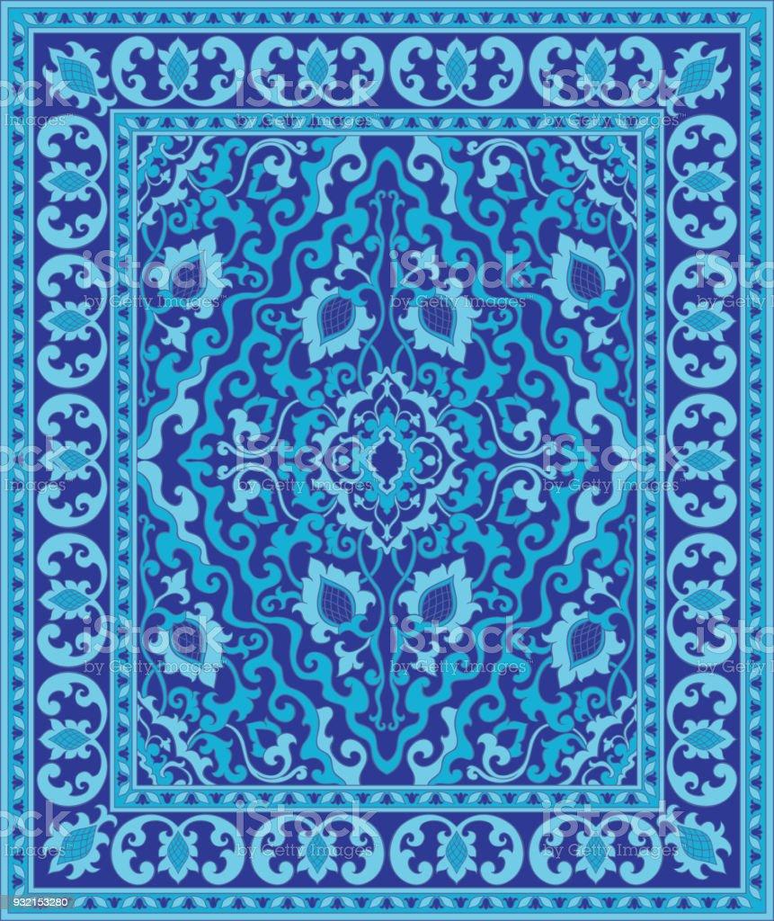 Tapis Oriental Bleu Cliparts Vectoriels Et Plus Dimages De