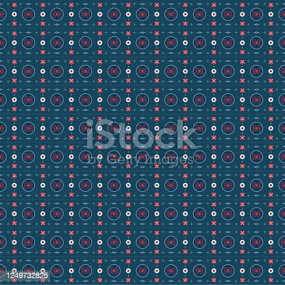 istock Blue oriental Japanese and chinese style seemless pattern vector 1249732825