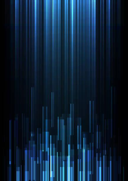 藍色重疊圖元速度抽象背景 - 垂直構圖 幅插畫檔、美工圖案、卡通及圖標