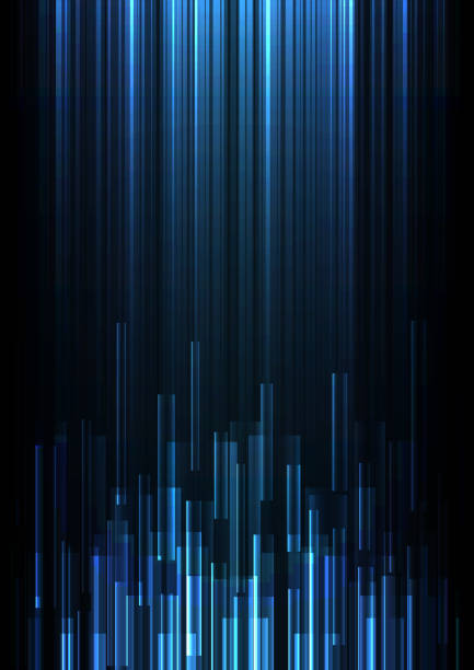 blue overlap pixel speed abstract background - вертикальный stock illustrations