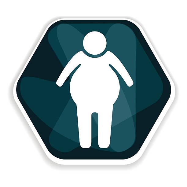 Blue overweight vector icon vector art illustration