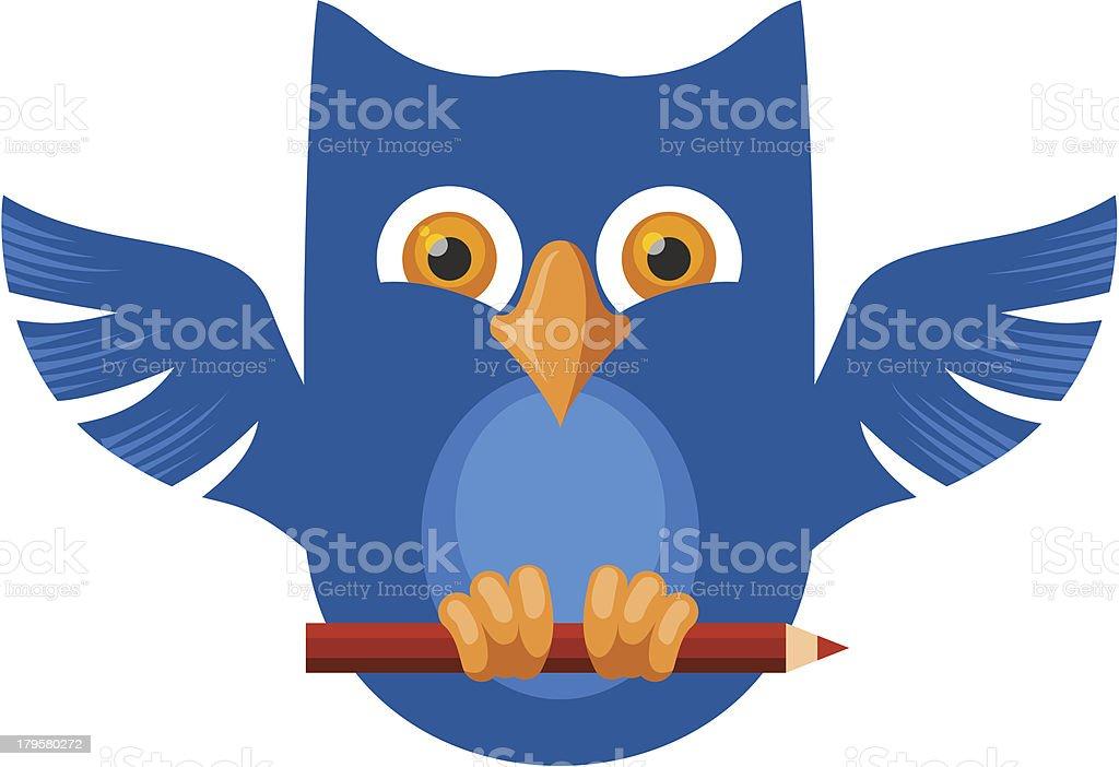 Blue Owl royalty-free stock vector art