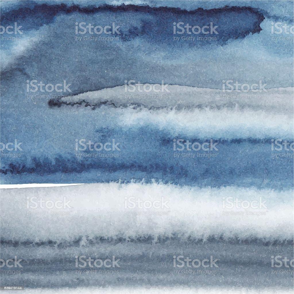 Blue paint background vector art illustration