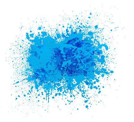 blue paint splash abstract vector background