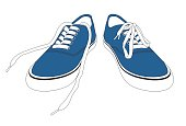 Blue Pair of Shoes