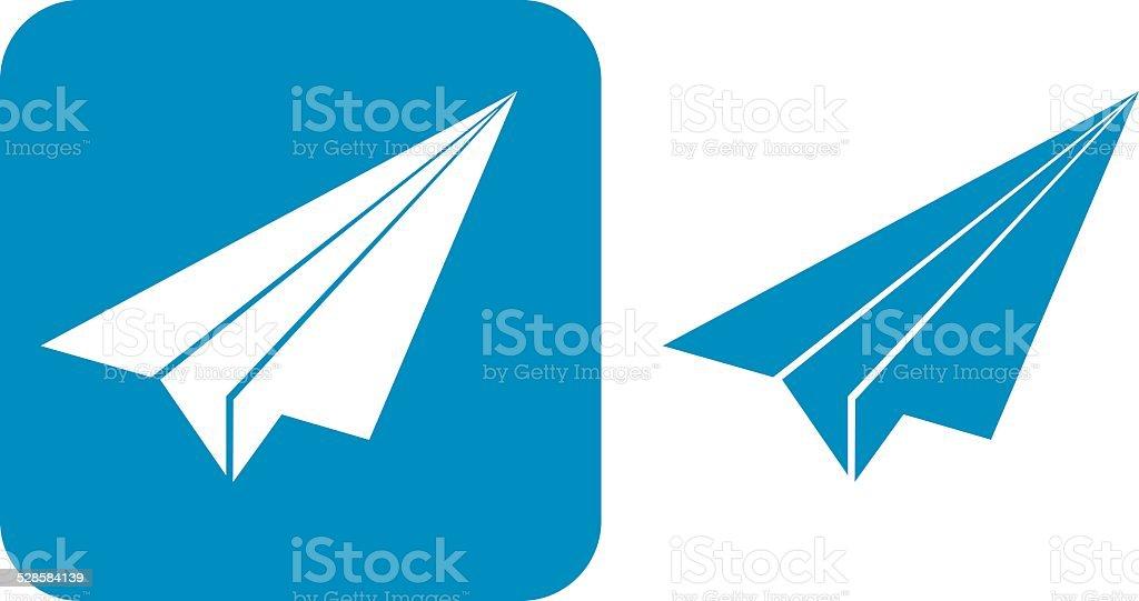 青のアイコン紙飛行機 おもちゃのベクターアート素材や画像を多数ご